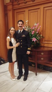 LT Elliot Geroge with his wife