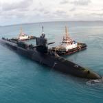 Submarine Getting Towed
